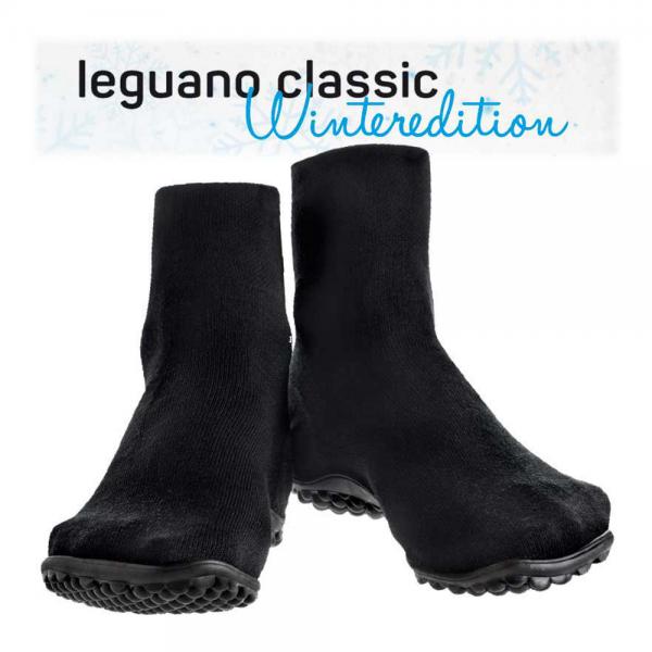 Leguano - Classic Winter-Wolle - Barfußschuhe (Unisex) - Schwarz