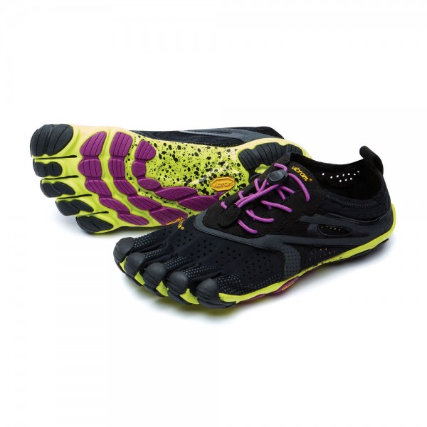Vibram Five Fingers - V-Run (Damen) - Zehenschuhe - Black/Yellow/Purple
