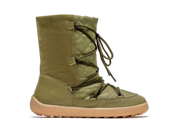 Be Lenka - Snowfox - Barfußschuh-Winterstiefel - (Damen) - Army Green