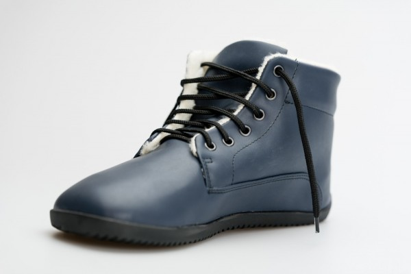 AHINSA SHOES - Winter Barfuß Stiefelette - Blau