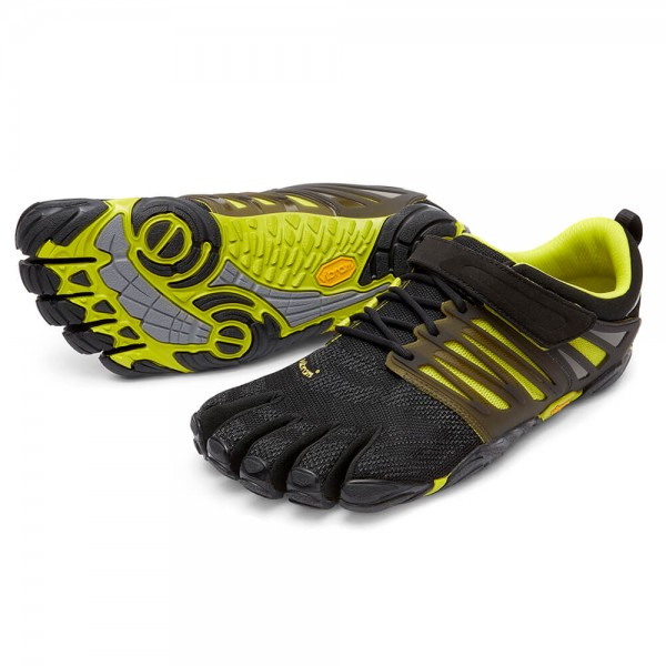 Vibram Five Fingers - V-Train (Herren) - Zehenschuhe - Black/Green