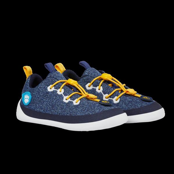 AFFENZAHN - Knit Pinguin (Kids) - Minimalschuh - Blau, Weiß