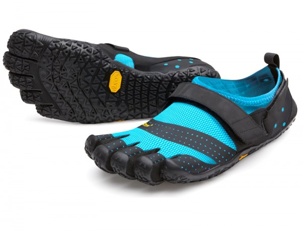 Vibram Five Fingers - V-Aqua (Damen) - Zehenschuhe - Black Lightblue