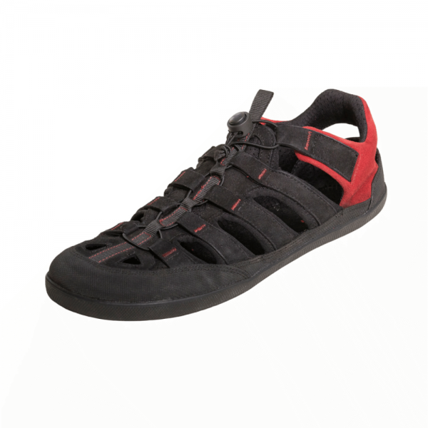 Sole Runner - FX Trainer Sandale (Unisex) - Barfußschuhe - Black/Red