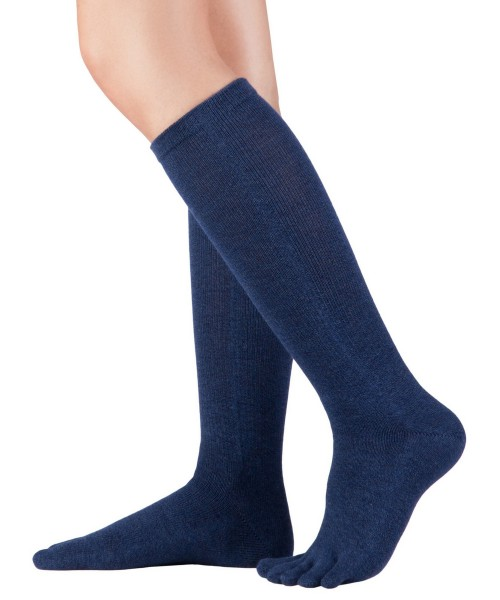 Knitido - Cotton & Merino Melange Kniestrümpfe (Unisex) - night blue