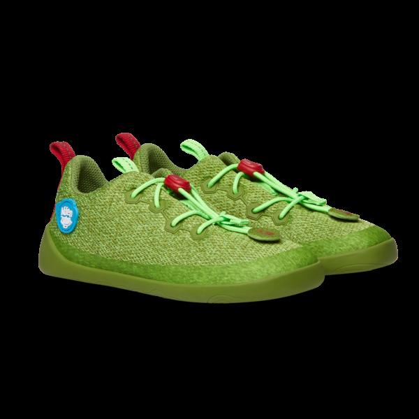 AFFENZAHN - Knit Drache (Kids) - Minimalschuh - Grün