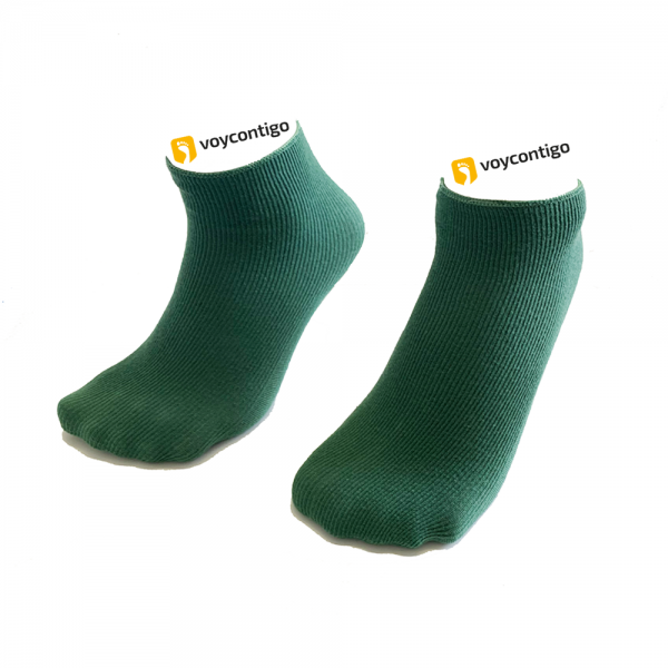 Voycontigo - Wintersocken - Kinder - Patinagrün