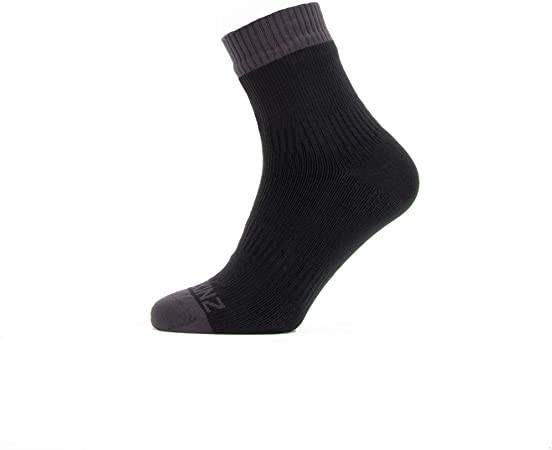 Sealskinz - Waterproof Warm Weather Ankle Length Sock - Black Gray