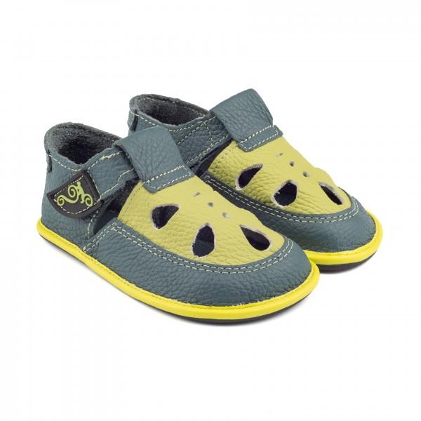 Magical Shoes - COCO (Kinder) - Barfußschuhe - Marineblau-Gelb
