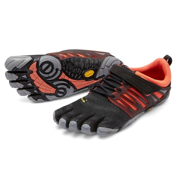 Vibram Five Fingers - V-Train (Damen) - Zehenschuhe - Black-Coral-Grey