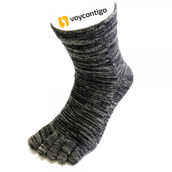 Voycontigo - Zehensocken - Unisex - Black - Gray