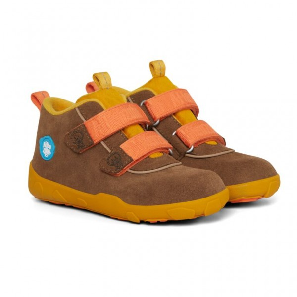 AFFENZAHN - Löwe (Kids) - Minimalschuhe - Leather - Gelb, Orange
