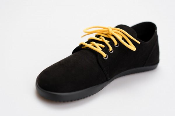 AHINSA SHOES - Bindu 2 Bare - Black-Suede