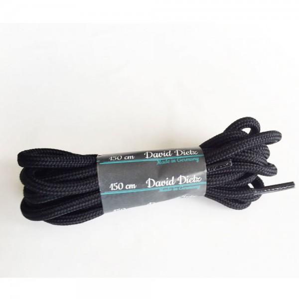 David Dietz - Schnürsenkel Dick 0.60 cm (Unisex) - Schwarz