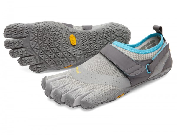 Vibram Five Fingers - V-Aqua (Damen) - Zehenschuhe - Lightgrey/Blue