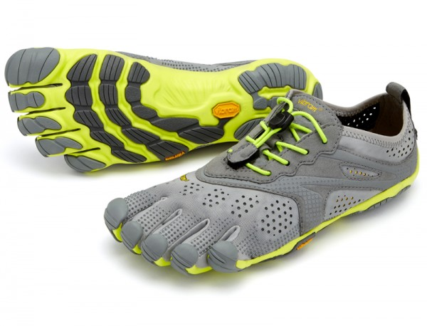 Vibram Five Fingers - V-Run (Damen) - Zehenschuhe - Grey/Yellow