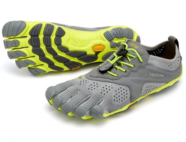 Vibram Five Fingers - V-Run (Herren) - Zehenschuhe - Grey/Yellow