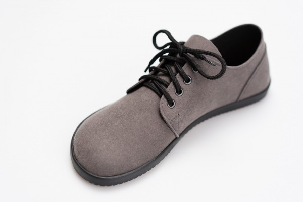 AHINSA SHOES - Bindu 2 Bare - Gray -Suede
