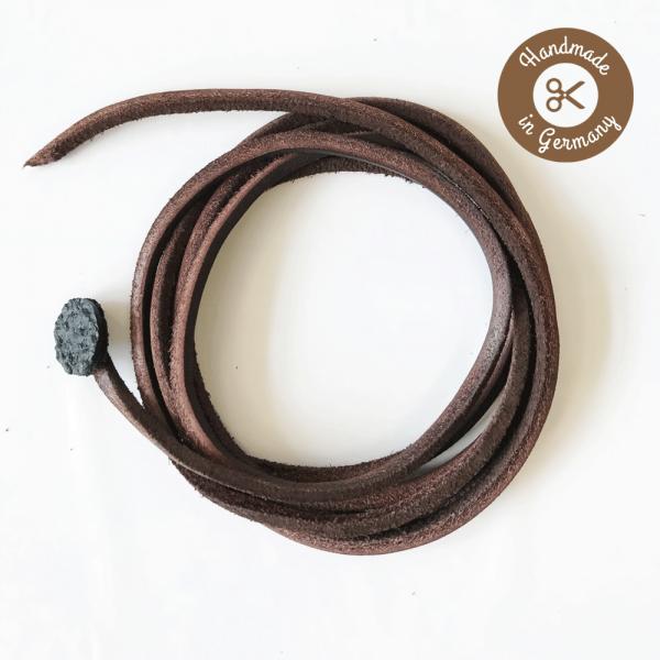 Chala® - Leder-Schnürsenkel (Unisex) - Dunkelbraun