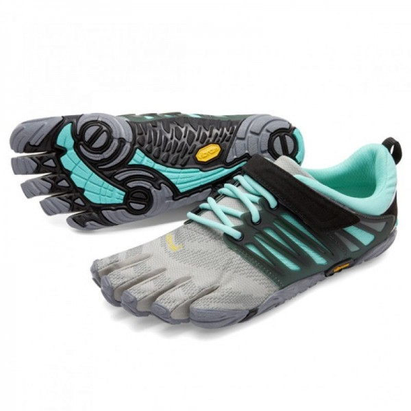 Vibram Five Fingers - V-Train (Damen) - Zehenschuhe - Grey/Black/Aqua