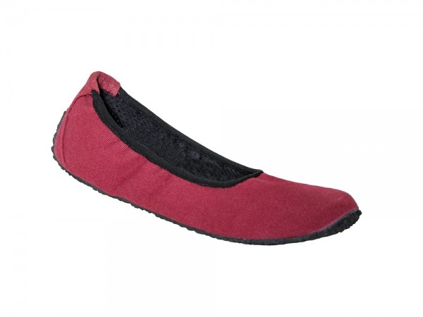 Sole Runner - Miranda Ballerina (Damen) - Barfußschuhe - Bordo Canvas