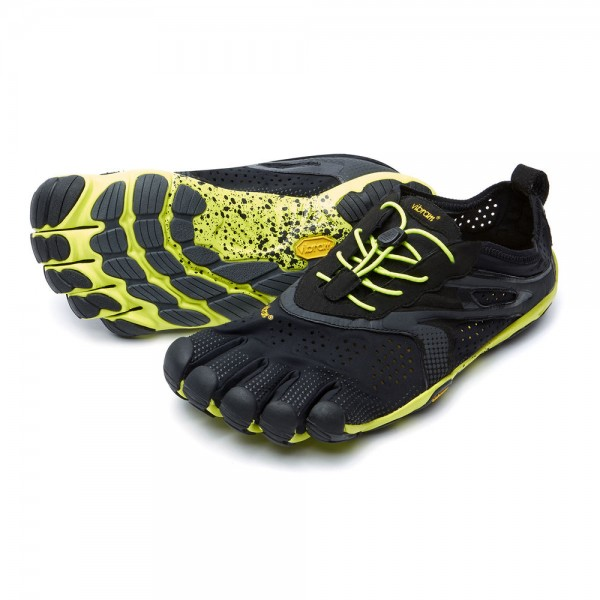 Vibram Five Fingers - V-Run (Herren) - Zehenschuhe - Black-Yellow