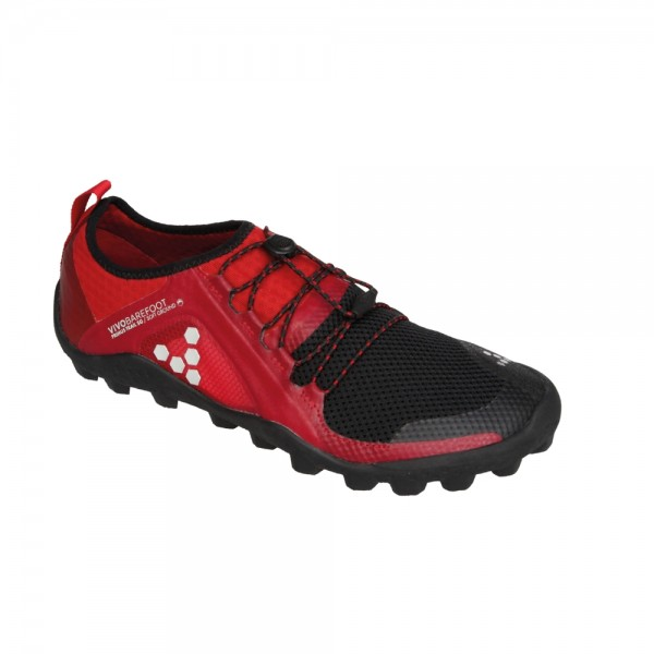 VIVOBAREFOOT - Primus Trail Soft Ground (Damen) - Barfußschuhe - Black-Red