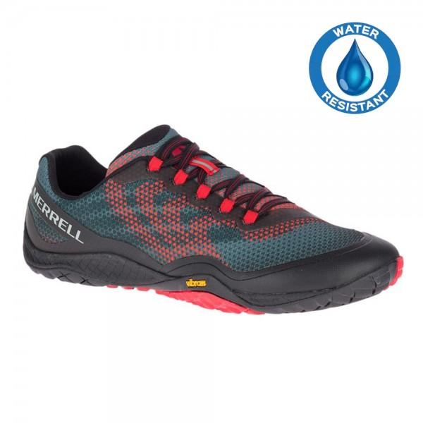 Merrell Barefoot - Trail Glove 4 Shield (Herren) - Barfußschuhe - Black-Red