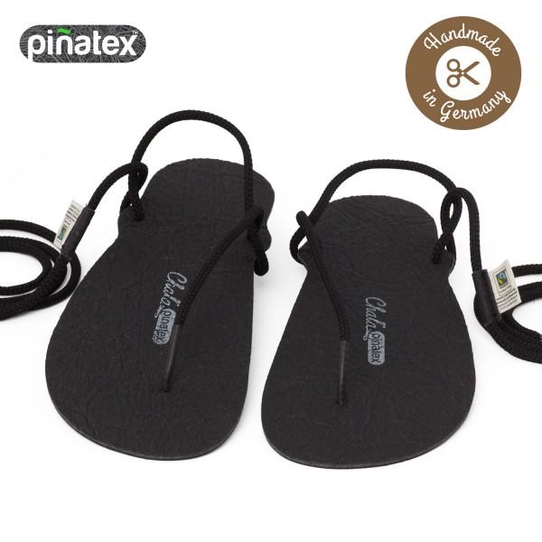 Chala - Huarache-Sandalen - Classic Piñatex Vegan (Unisex) - Black