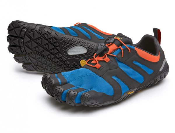Vibram Five Fingers - V-Trail 2.0 (Herren) - Zehenschuhe - Blue - Orange- Yellow
